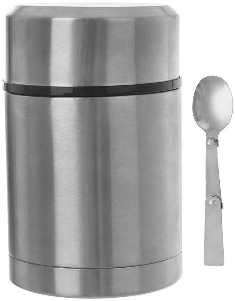 Termos obiadowy stalowy z łyżeczką z szerokim wlewem na zupę żywność próżniowy 700 ml