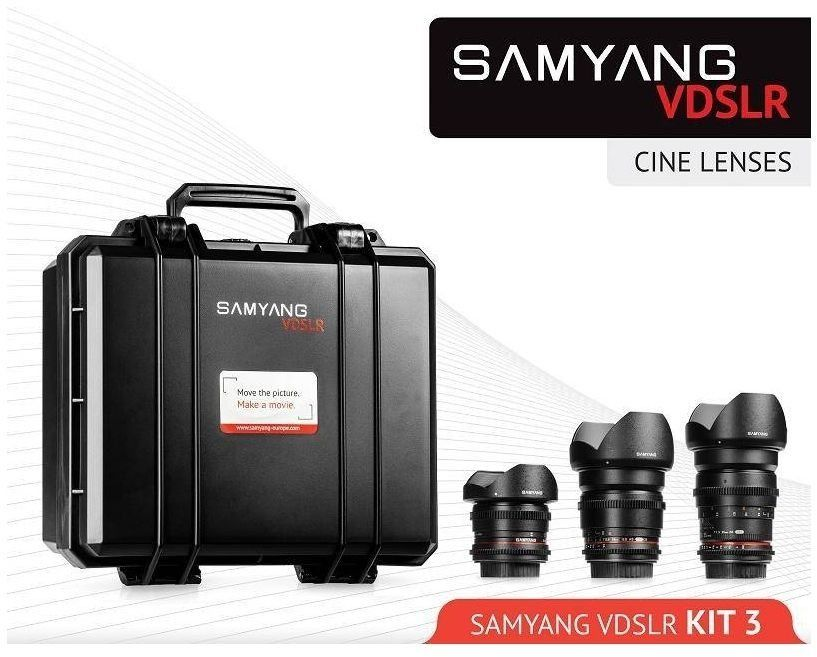 Samyang 8 mm/16 mm/35 mm VDSLR zestaw obiektywów do kina 3 do Nikon