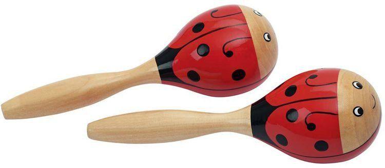 Grzechotka drewniana, marakas, Biedroneczka, 61917-Goki, instrumenty muzyczne dla dzieci