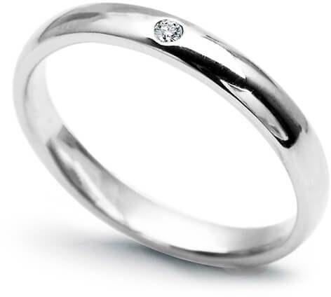 Złota obrączka PBD4790 - Diament