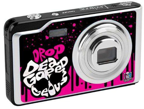 Lexibook DJ052MH Monster High aparat cyfrowy (12 megapikseli, wyświetlacz 6,8 cm (2,7 cala), 8-krotny zoom), czarny