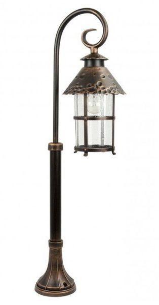 Lampa stojąca masztowa ozdobna 86cm TOLEDO K 5002/3/R miedź