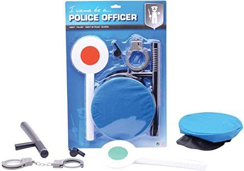 Otto SimJohntoy 26002, policyjny zestaw do zabawy lub akcesoria dla policji na karnawał dla dzieci