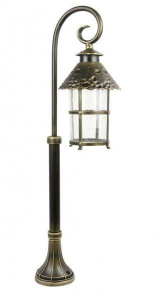 Lampa stojąca masztowa ozdobna 86cm TOLEDO K 5002/3/R mosiądz