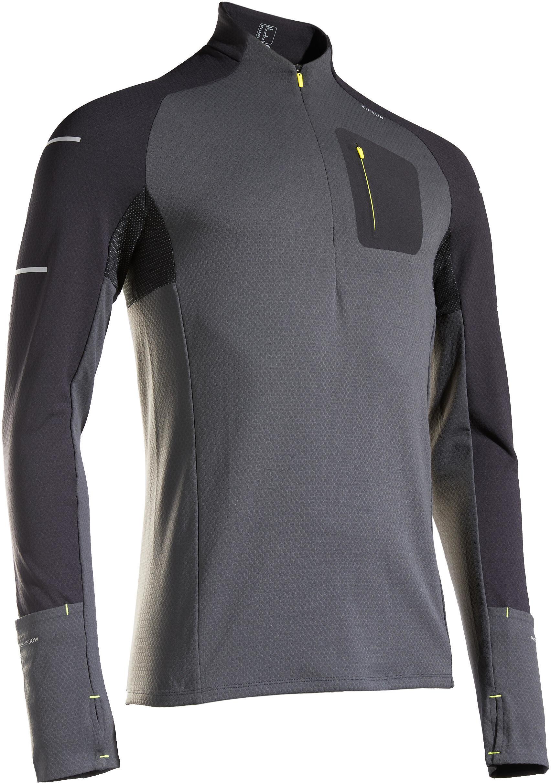 Koszulka do biegania z długim rękawem męska Kiprun Warm Light cienka ocieplana