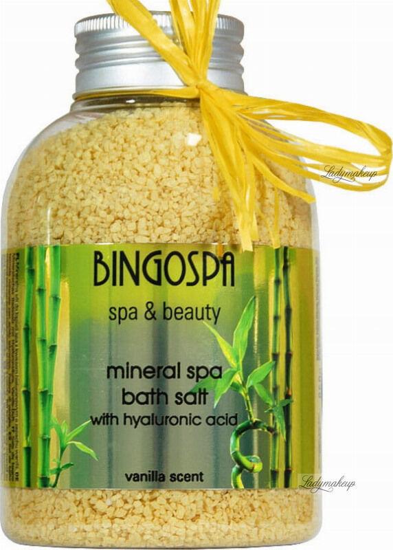 BINGOSPA - Spa & Beauty - Mineral Spa Bath Salt - Mineralna sól do kąpieli z kwasem hialuronowym - 650 g