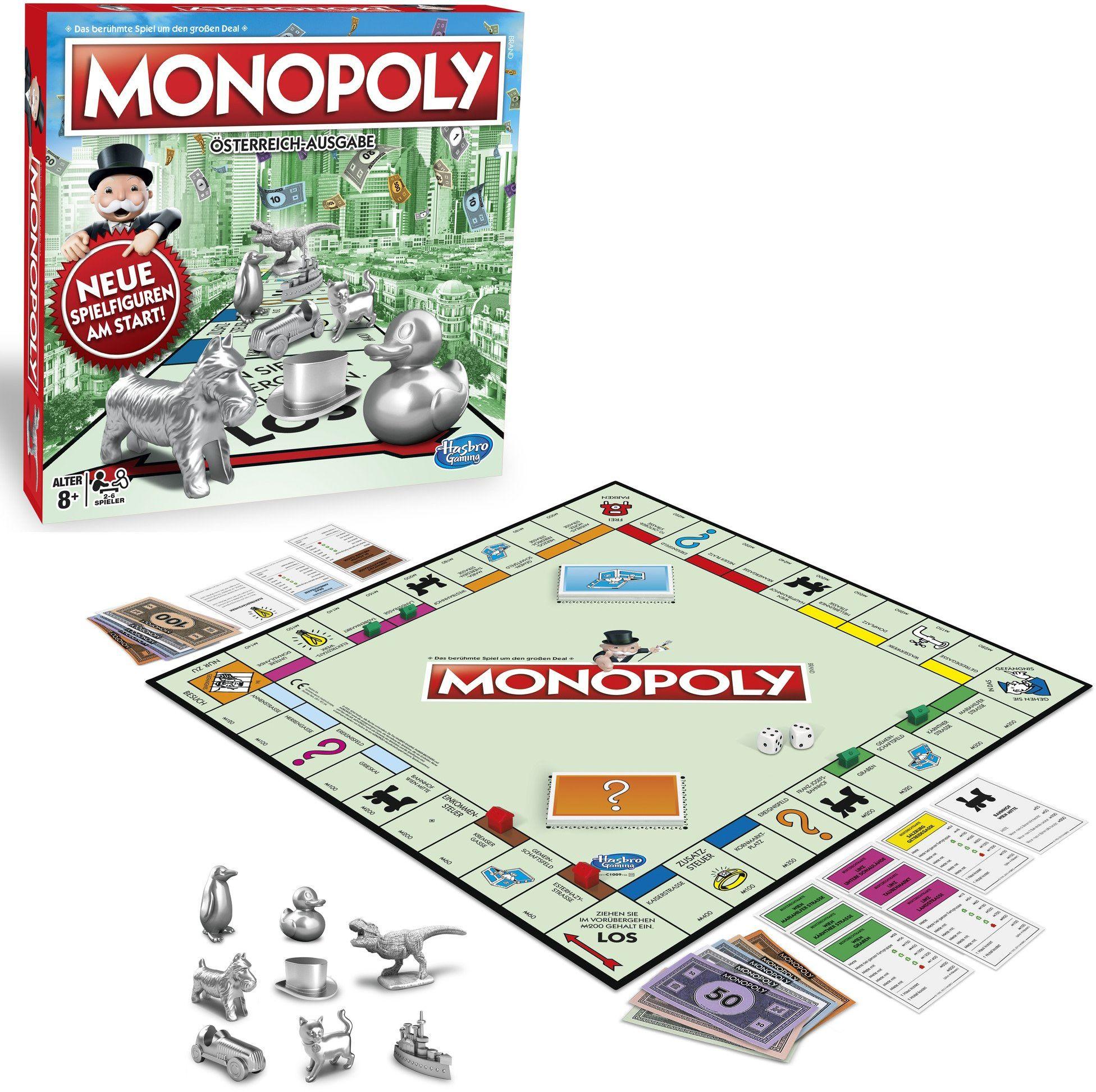 Hasbro Gaming C1009156 - Monopoly Classic austriacka wersja gra rodzinna