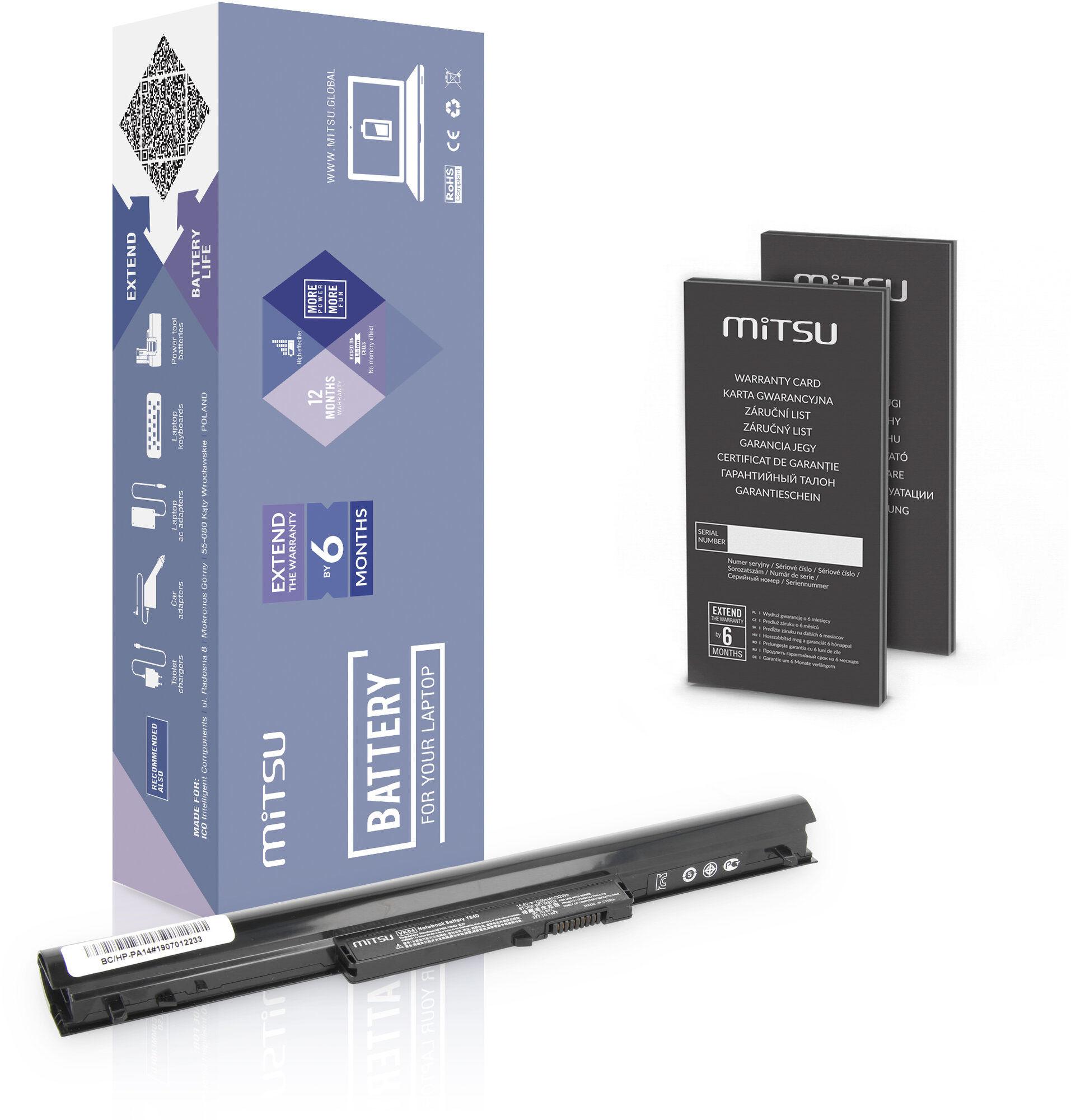 Bateria Mitsu do HP SleekBook 14, 15z 2200mAh