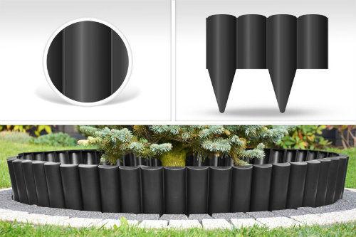 Palisada ogrodowa kolor czarny PALGARDEN