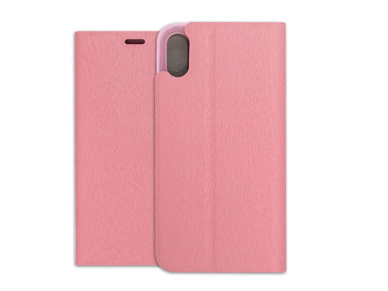 Apple iPhone XS - etui na telefon Flex Book - różowy