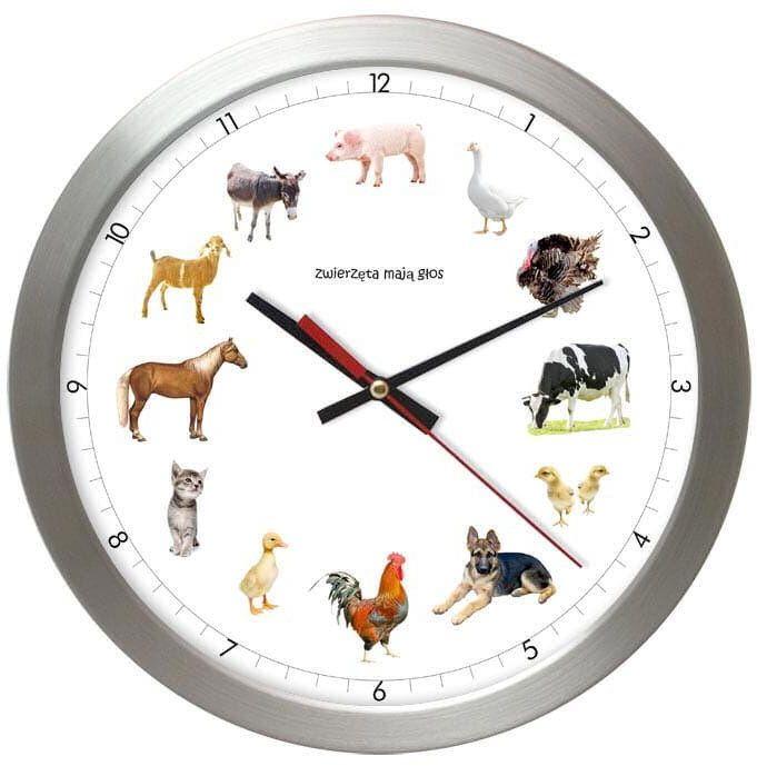 Zegar z głosami zwierząt Atrix AS028ZM T2 SW 30 cm