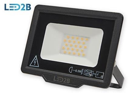 Oprawa LED MH 20W CZARNA barwa NEUTRALNA LED2B