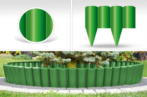 Palisada ogrodowa kolor zielony PALGARDEN