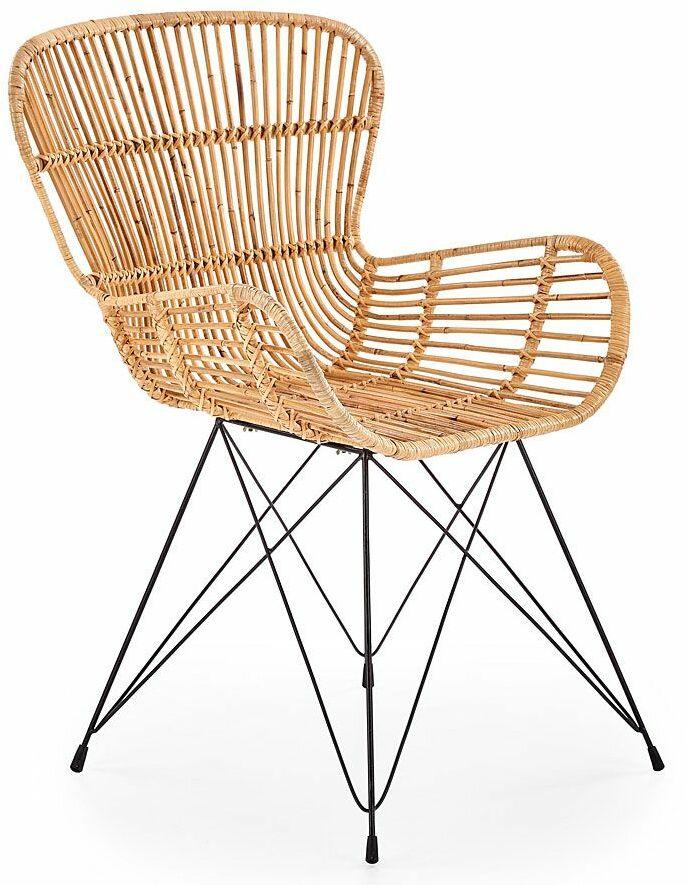 Ażurowe krzesło rattanowe Anker