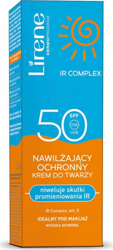 Lirene - Nawilzająco-ochronny krem do twarzy - SPF50