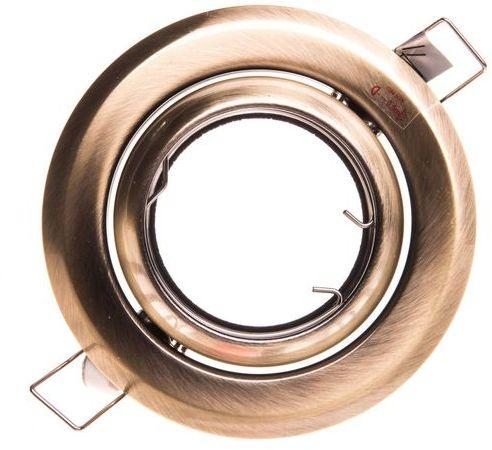 Oprawa punktowa 1x50W GU5,3 12V IP20 ARGUS CT-2117-BR/M matowy mosiadz 00336