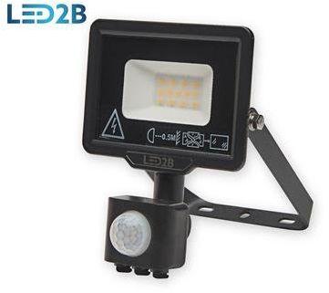 Oprawa LED MHC z czujnikiem 10W CZARNA barwa NEUTRALNA LED2B