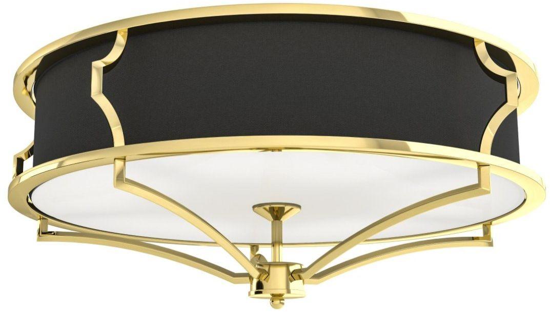 Plafon Stesso Gold/Nero M Orlicki Design dekoracyjna oprawa w kolorze złota i czerni