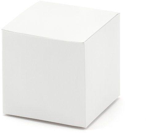 Pudełeczka na podziękowania dla gości białe 10 szt PUDP8