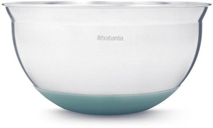 Brabantia - stalowa misa kuchenna 1.6l - miętowa silikonowa podstawa - miętowy