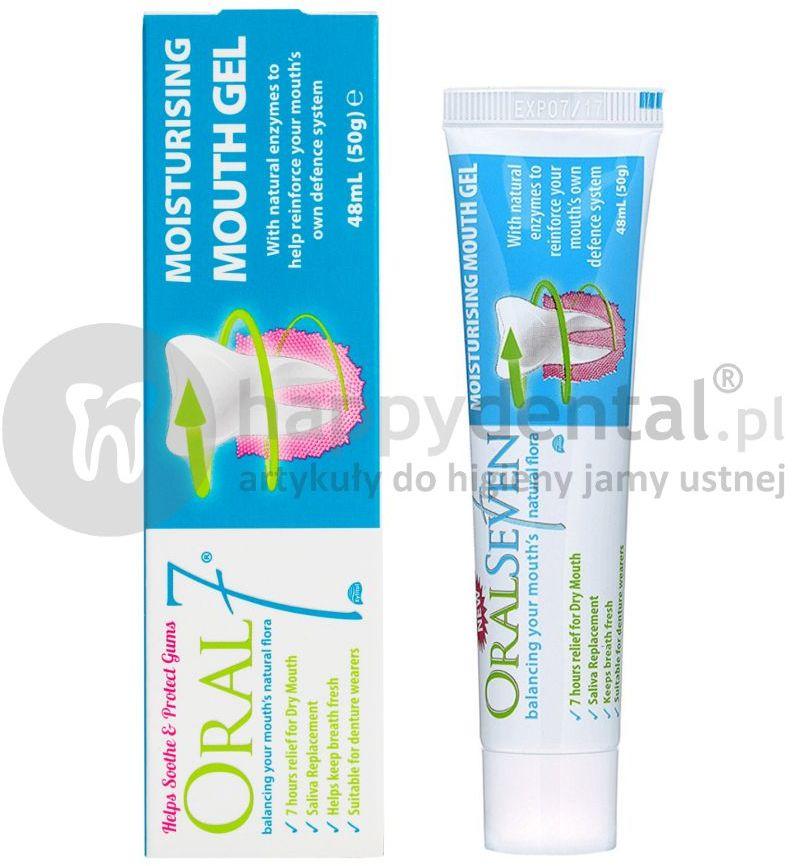 ORAL7 żel na suchość jamy ustnej z kompleksem enzymów, substytut śliny - 40ml