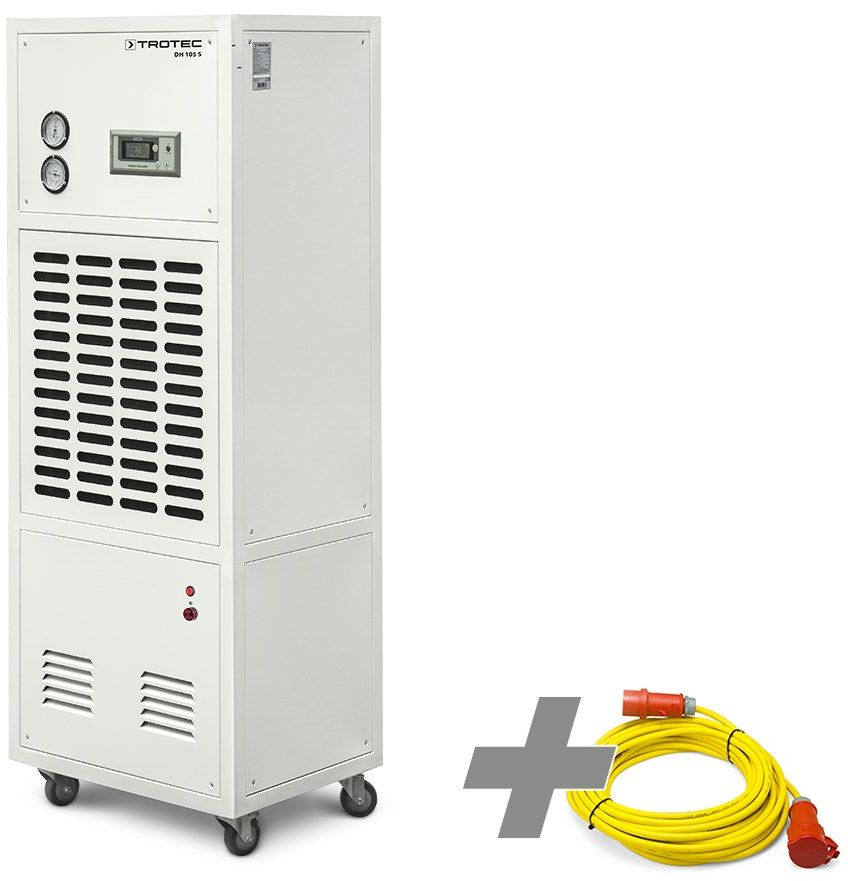 Osuszacz przemysłowy DH 105 S + profesjonalny przedłużacz 20 m / 400 V / 2,5 mm2 (CEE 16 A)