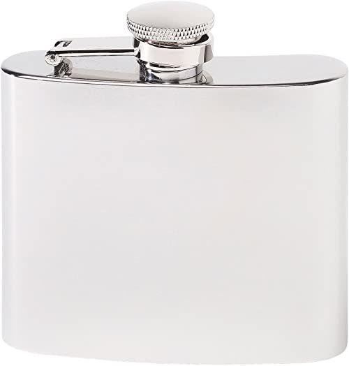 Herbertz Męska butelka kieszonkowa ze stali nierdzewnej 148 ml piersiówka, srebrna