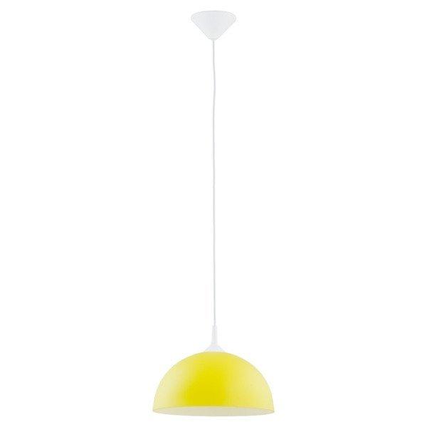 Lampa wisząca zwis szklana tuba ALBERT żółty śr. 30cm - żółty