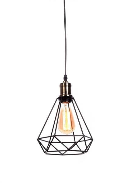 Lumina Deco Cobi industrialna czarna loftowa lampa wisząca