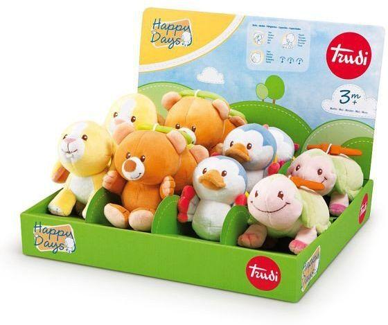 Sympatyczne zwierzaki z dźwiekami do zawieszenia, 28330-Trudi, zabawki dla niemowląt