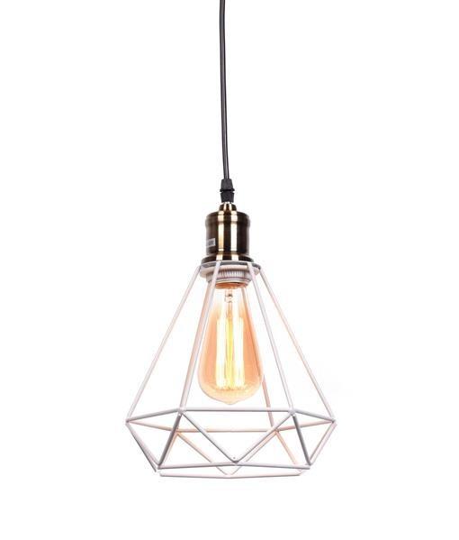 Lumina Deco Cobi industrialna biała loftowa lampa wisząca