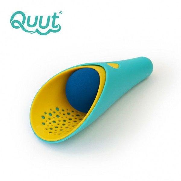 Quut - Zestaw 2 Łopatek Wielofunkcyjnych z Piłeczką Cuppi Lagoon Green + Yellow + Blue Ball
