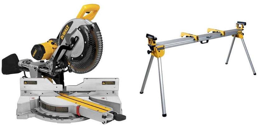 Zestaw: pilarka tarczowa, ukośnica XPS 1675W, 305/30mm [DWS780-QS] + stół roboczy do ukośnicy DeWalt [DE7023]