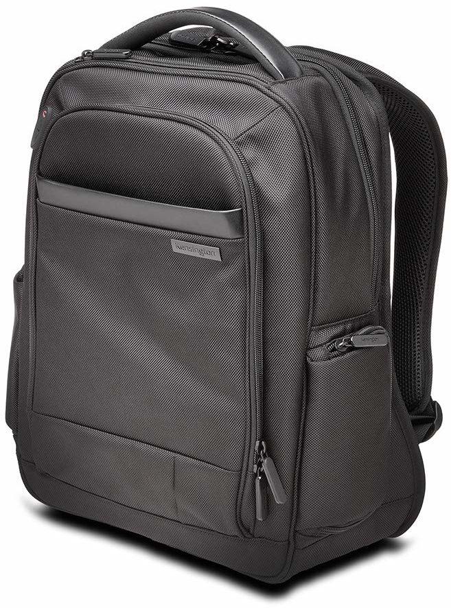 Kensington Contour 2.0 plecak biznesowy na laptopa o przekątnej ekranu 14 cali, dla kobiet i mężczyzn, wodoszczelny, mały plecak na laptopa, idealna torba podróżna do laptopów i tabletów, K60383EU