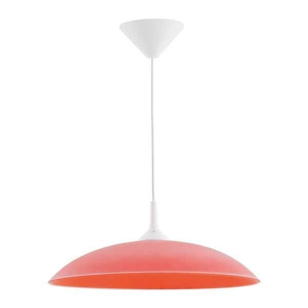 Lampa wisząca nowoczesna zwis MARTA czerwony śr. 38cm - czerwony