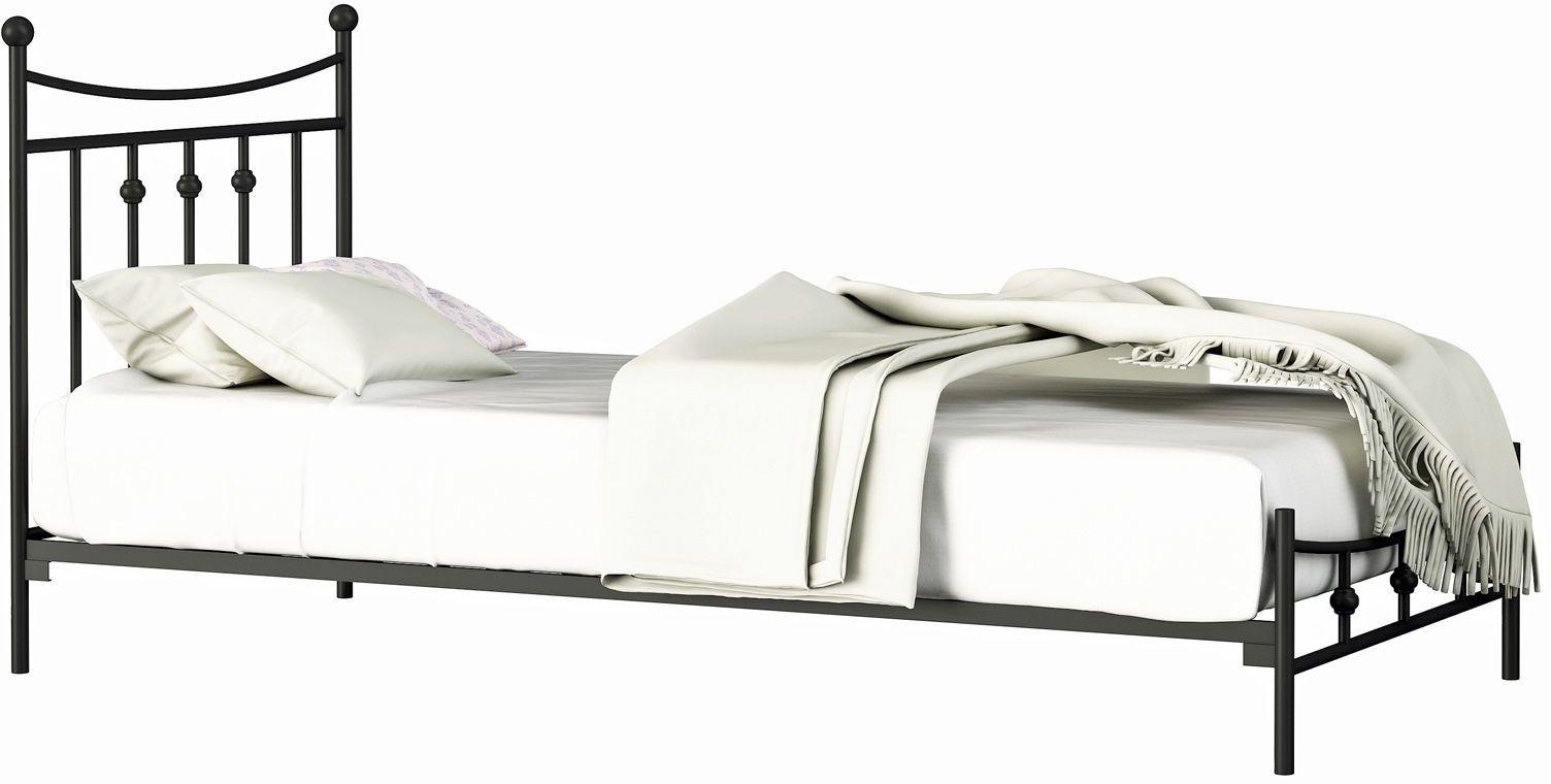 Łóżko pojedyncze metalowe Debora 120x200 - 17 kolorów