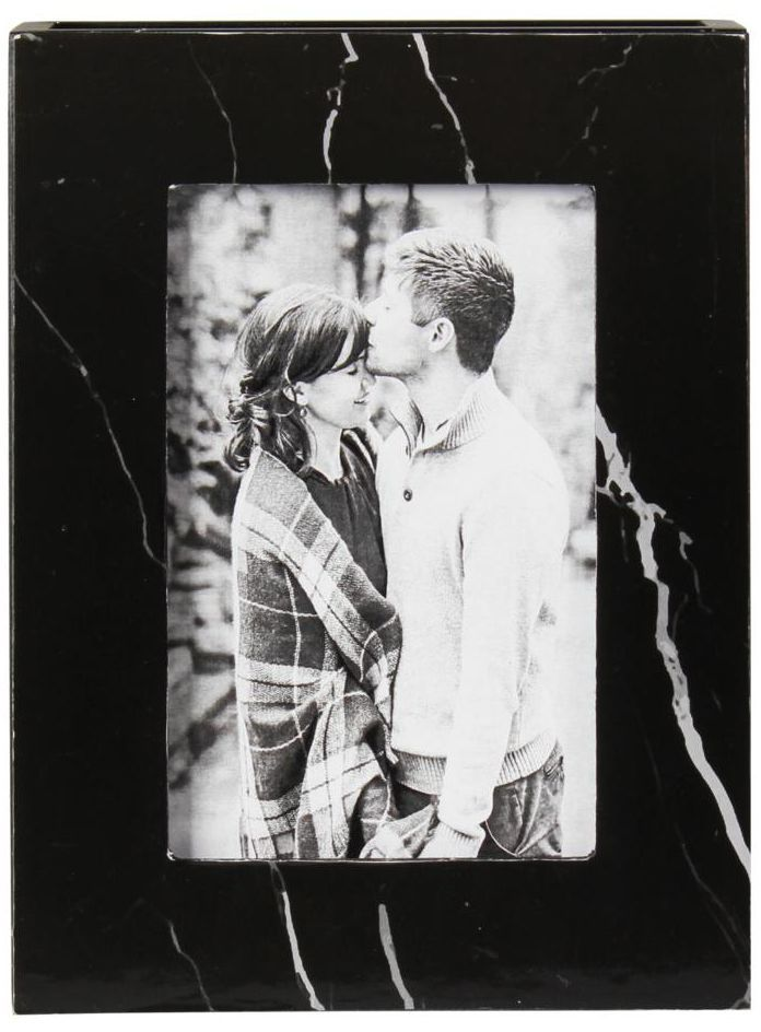 Ramka na zdjęcia Calla 7 x 11 cm czarna drewniana