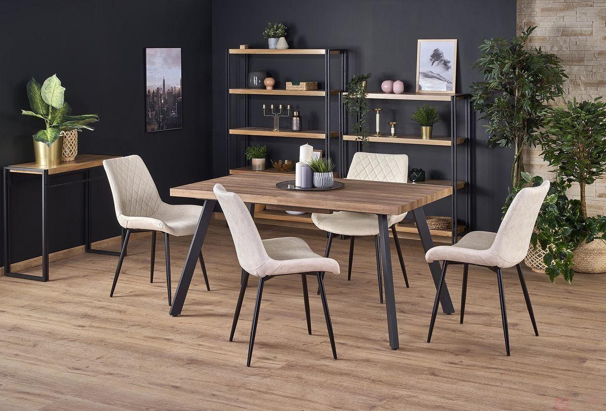 Stół BERLIN Halmar Orzech, 85x140-180 cm [Wysyłka 2020-03-10]