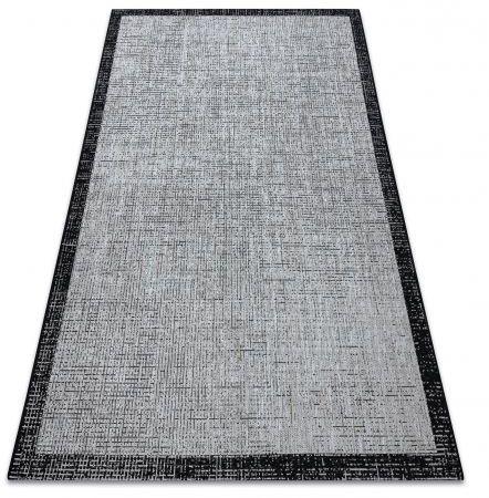 DYWAN SZNURKOWY SIZAL FLOORLUX 20401 Ramka srebrny / czarny 120x170 cm