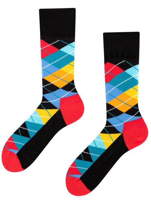 Ekstravaganza, Todo Socks, Romby, Geometryczne wzory, Kolorowe Skarpetki