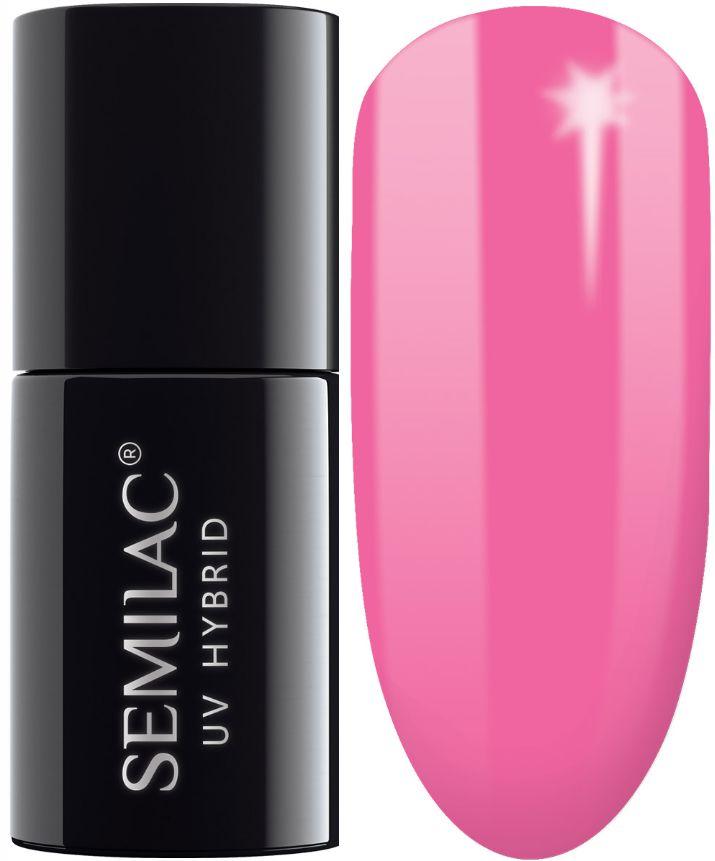 SEMILAC 008 Intensive Pink UV LED Lakier Hybrydowy 7ml