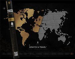 Mapa zdrapka. Loft black ZAKŁADKA DO KSIĄŻEK GRATIS DO KAŻDEGO ZAMÓWIENIA
