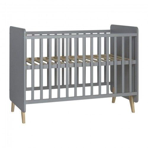 Szare łóżeczko niemowlęce Quax Loft 120x60