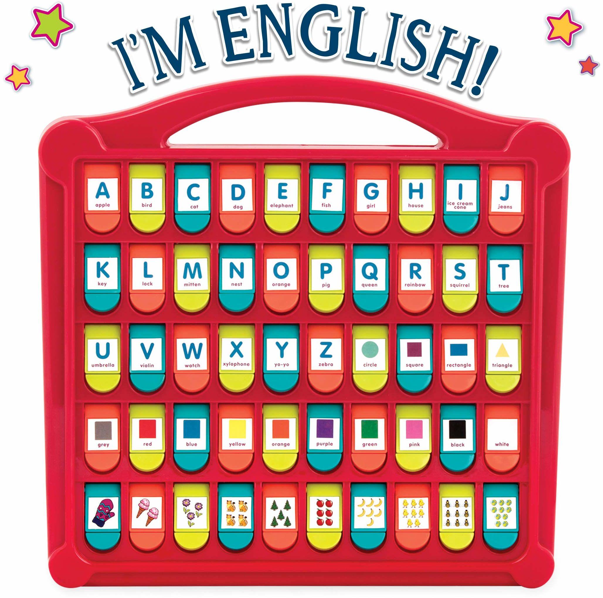Battat  Alfabet ''Ukryj & Seek''  50 wyskakujących kształtów, kolorów, liter i cyfr  zabawki edukacyjne dla małych dzieci  wolne od BPA i ftalanów  Zabawki edukacyjne dla przedszkolaków
