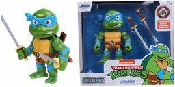 Jada Toys 253283000 Turtles Leonardo figurka z Die-cast, 10 cm, figurka kolekcjonerska, odlew ciśnieniowy, zielona/niebieska