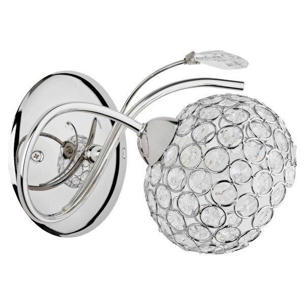 Kinkiet nowoczesny z kryształkami BRYLANT chrom