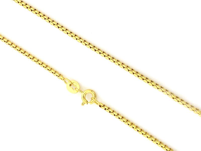 Złoty łańcuszek 585 splot kostka 50 cm prezent 3,53 g