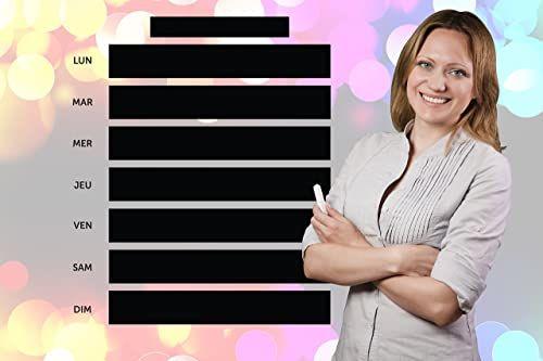 Naklejka ścienna tablica łupkowa kalendarz z płynną kredą, biała  z opakowaniem  idealny prezent