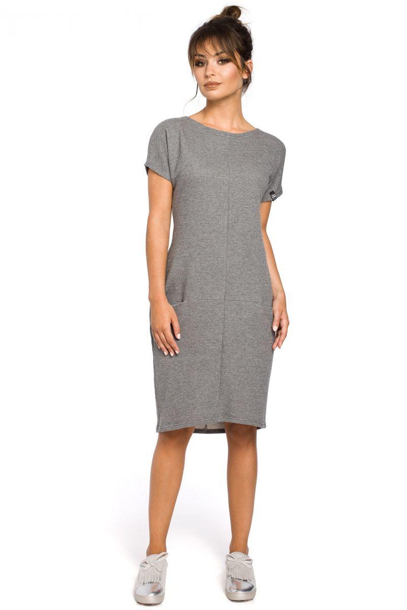B050 sukienka szara