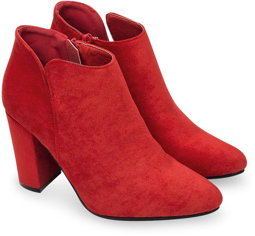 Botki damskie Ideal Shoes TX-2906 Czerwone